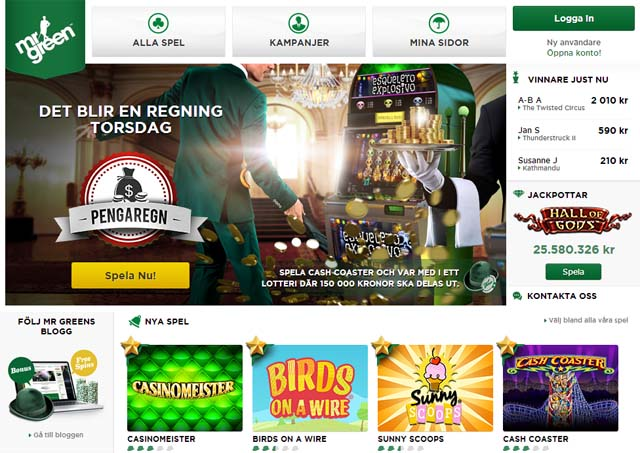 Mr Greens casino på nätet